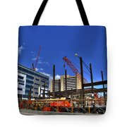 05 Medical Building Construction On Main Street Tote Bag