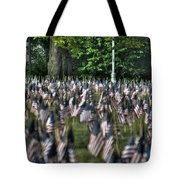 06 Flags For Fallen Soldiers Of Sep 11 Tote Bag