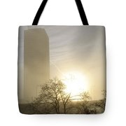 06 Foggy Sunday Sunrise Tote Bag