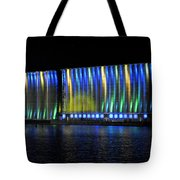 06 Grain Elevators Light Show 2015 Tote Bag