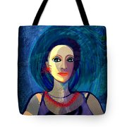 066 Woman With Red Necklace Av Tote Bag