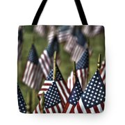 07 Flags For Fallen Soldiers Of Sep 11 Tote Bag