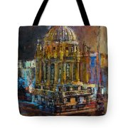 071 Famous Building Top In Chicago Illinois Tote Bag