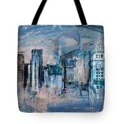 072 Wrigley Buildings In Chicago. Tote Bag