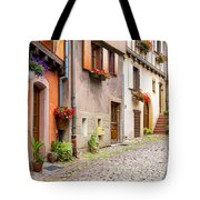 Half-timbered House Of Eguisheim, Alsace, France Tote Bag