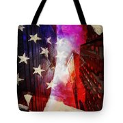 090 Look Up New York Tote Bag
