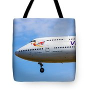 A Virgin Atlantic Boeing 747 Tote Bag