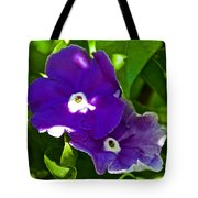 Purple Flowers In Pilgrim Place In Claremont-california Tote Bag