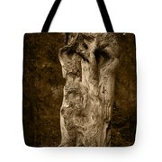 Wooden Face Tote Bag