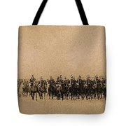180 Degrees Panorama Troops Passing In Review No Date Or Locale Restored Color Added 2008 Tote Bag
