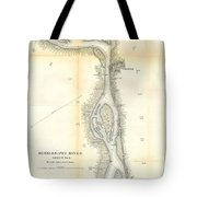 1865 Uscs Map Of The Mississippi River 78 To 98 Miles Above Cairo Illinois Tote Bag