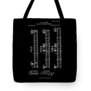 1875 Electric Railway Signal Patent Drawing  Tote Bag