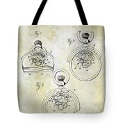 1893 Pocket Watch Patent Tote Bag