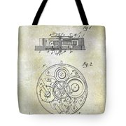 1908 Pocket Watch Patent  Tote Bag