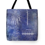 1911 Mechanical Skeleton Patent Blue Tote Bag