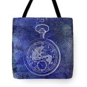 1916 Pocket Watch Patent Blueprint Tote Bag
