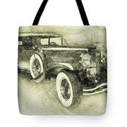1928 Duesenberg Model J 3 - Automotive Art - Car Posters Tote Bag