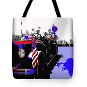1930 American Lafrance Fire Truck Pro-viet Nam War March Tucson Arizona 1970 Color Added Tote Bag