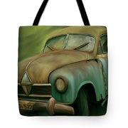 1950's Vintage Borgward Hansa Sports Coupe Car Tote Bag