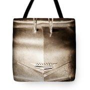 1956 Cadillac Eldorado Biarritz Convertible Hood Ornament - Emblem Tote Bag