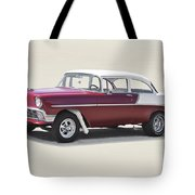 1956 Chevrolet 210 Coupe 'gasser Style' Tote Bag