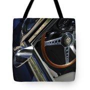 1963 Jaguar Xke Roadster Steering Wheel Tote Bag