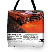 1970 Chevrolet Chevelle Ss 396 Tote Bag