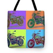 2016 Moto Guzzi V7ii Stornello - Warhol Style Tote Bag