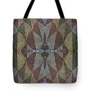 21970. Mosaic Rhythm Of Roman Baths. Tote Bag