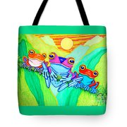 3 Little Frogs Tote Bag