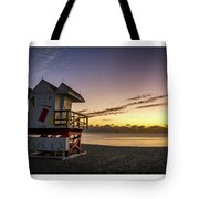 7901- Miami Beach Sunrise  Tote Bag