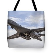 A B-1b Lancer Of The U.s. Air Force Tote Bag
