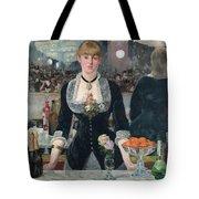 Edouard Manet - A Bar At The Folies-bergere Tote Bag