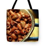 A Bowl Of Black Olives  Tote Bag