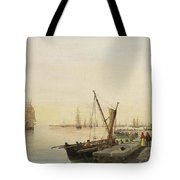 A Busy Harbour Tote Bag