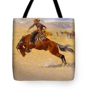 A Cold Morning On The Range Tote Bag