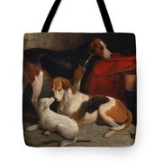 A Couple Of Foxhounds With A Terrier - The Property Of Lord Henry Bentinck  Tote Bag