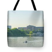 A Day On The River - Philadelphia Tote Bag