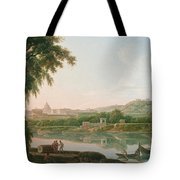 A Distant View Of Rome Across The Tiber Tote Bag