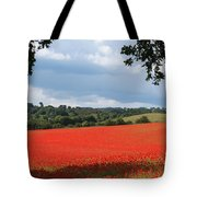 A Field Of Red Poppies Tote Bag