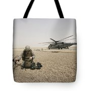 A Field Radio Operator Sets Tote Bag by Stocktrek Images