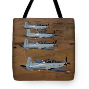 A Formation Of Iraqi Air Force T-6 Tote Bag