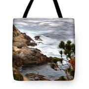 A Grey Day At Big Sur 2 Tote Bag