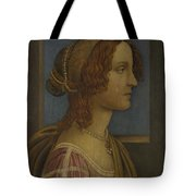A Lady In Profile Tote Bag