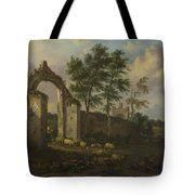 A Landscape With A Ruined Archway Tote Bag