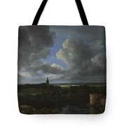 A Landscape With A Ruined Castle And A Church Tote Bag