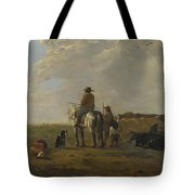 A Landscape With Horseman Herders And Cattle Tote Bag