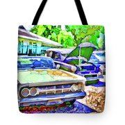 A Line Of Classic Antique Cars 3 Tote Bag
