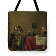 A Merry Company At Table Tote Bag