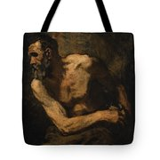 A Miser Study For Timon Of Athens Tote Bag